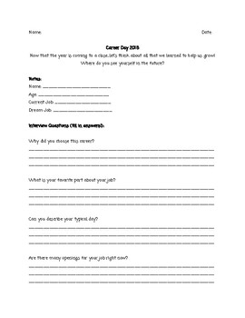 Career Day Questionnaire