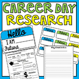 Career Day Research Worksheet, Display & Name Tags