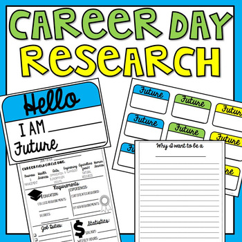 Career Day Research Worksheet, Display & Name Tags