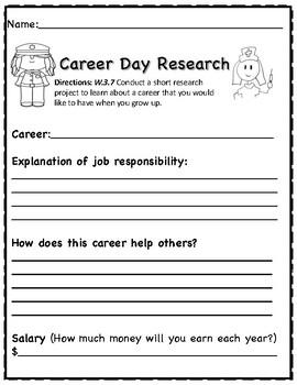 Career Day Short Research Freeebie