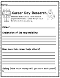 Career Day Short Research Freeebie
