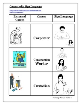 Career Day Sign Language