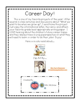 Career Day Writing Project