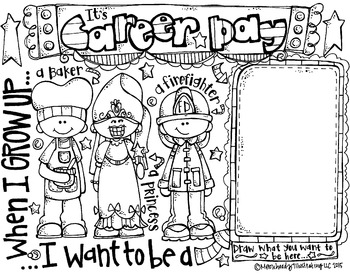 Career Day coloring page FREEBIE by Melonheadz by Melonheadz TpT