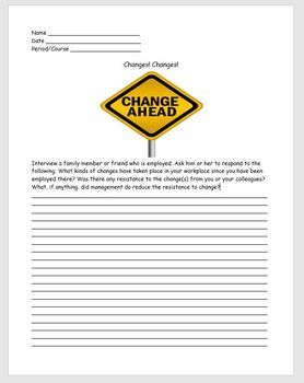 Career Education- Changes! Changes!