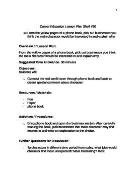 Career Education Lesson Plan Shell #90