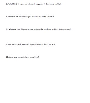 Career Education: Practice Using the Occupational Outlook Handbook