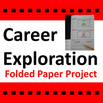 Career Exploration Activity Folded Paper Project