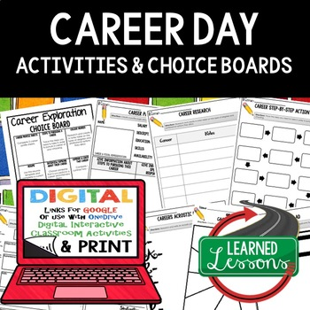 Career Exploration Choice Board with 9 Activities (Paper & Google) #stockupsale