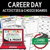 Career Exploration Activities, Choice Board, Print & Digit
