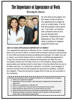 Vocational, DRESS FOR SUCCESS, Career Readiness, Career Exploration, Employment