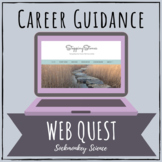 Career Exploration & Future Plans Web Quest Research Project {Counseling}