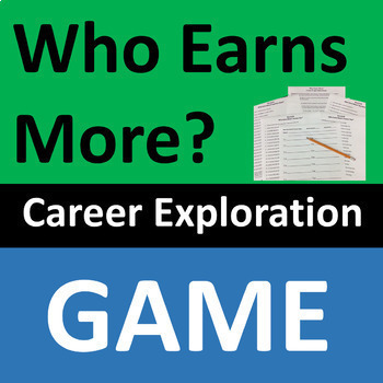 Career Exploration Game   Who Earns More? Salaries Activity