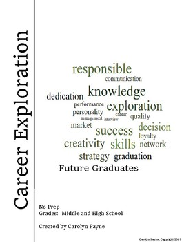 Career Exploration, Graduation and Personal Goal Setting