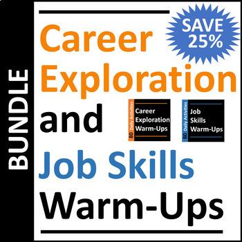 Job Skills & Career Exploration Warm-Up Activities BUNDLE