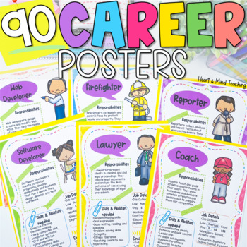 Career Exploration Poster Set; Career Education Community Helper