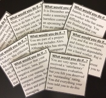 Career Exploration, Preparation, & Dilemmas Card Sets/Group Activity BUNDLE