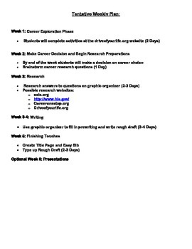 Career Exploration Research Essay Assignment