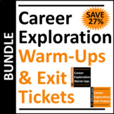 Career Exploration Warm-Up and Exit Ticket BUNDLE