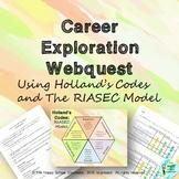 Career Exploration Hollands Code + RIASEC Model Webquest