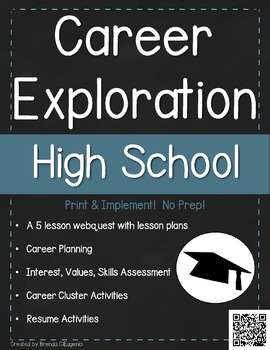 Career Exploration Webquest - High School