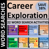 Career Exploration Word Search Activities Bundle SAVE 38%