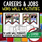 Career Exploration Word Wall Pennants & Activity Pages (Career Day REAL PEOPLE)