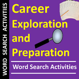 Career Exploration and Preparation Word Search Activities