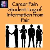 Career Fair: Student Log of Information From the Career Fair