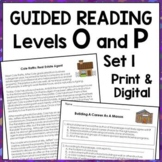 Career Exploration Reading Comprehension Passages: Guided Reading Levels O and P