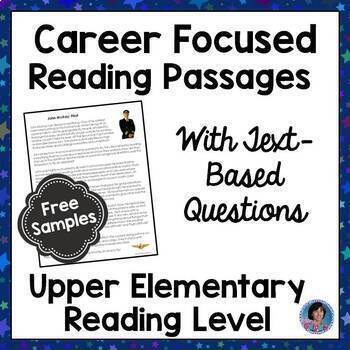 Career Exploration for Elementary: Reading Passages and Questions {Free Samples}