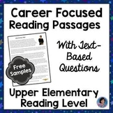 Career Exploration Reading Comprehension Passages and Questions {Free Samples}