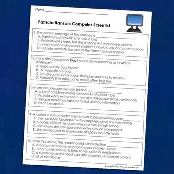 Guided Reading Levels O and P: Career-Focused Reading Passages {The Second Set}
