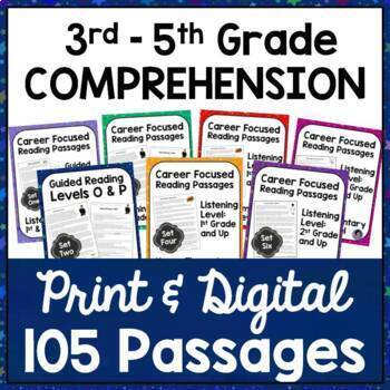 College and Career Readiness Reading Passages Bundle {Explore 105 Careers!}