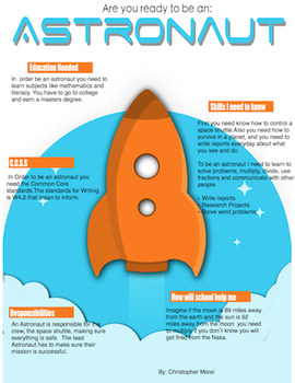 Career Info graphic for Astronauts