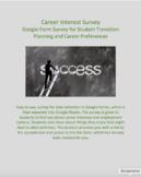 Career Interest Inventory developed for Google Forms