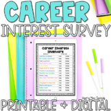 Career Interest Survey for Career Exploration Google Classroom Distance Learning