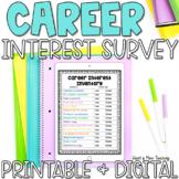 Career Interest Survey for Career Exploration Google Classroom Distance Learning