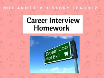 Career Interview Homework