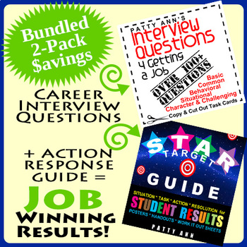 Career Interview Questions + STAR Action Results Guide = V