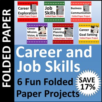Career & Job Skills Folded Paper Project Activities BUNDLE
