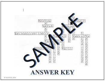 Career & Job Terminology - Crossword Puzzle Activity Worksheet