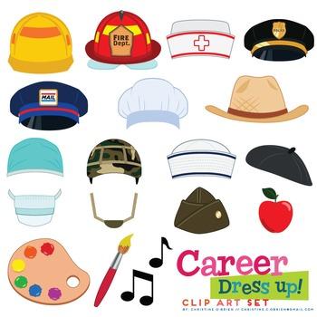 Career / Jobs Dress Up Clip Art Set #AugTpTClipLove