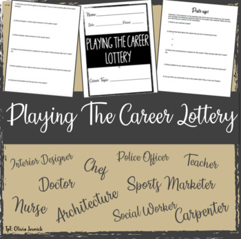 Career Lottery Activity
