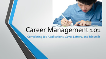 Career Management 101 - Completing Job Applications, Cover