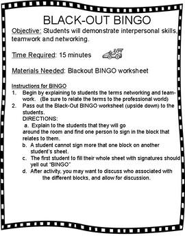 Career Networking BINGO