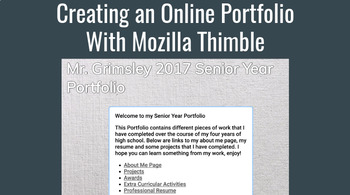 Career Planning Bundle - Creating a Resume, Cover Letter and HTML Portfolio