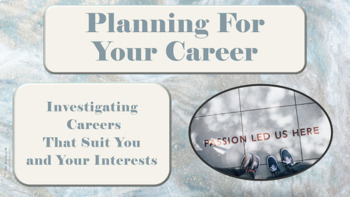 Career Planning & Investigation Lesson w links to 4 Career