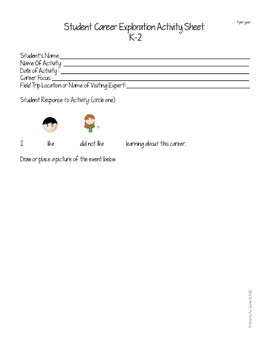 Career Planning Recording Sheets for Students with Disabilities