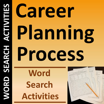 Career Planning Process Word Search Puzzles